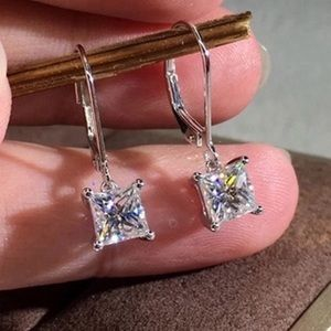 COMING SOON! Princess Cut CZ earrings